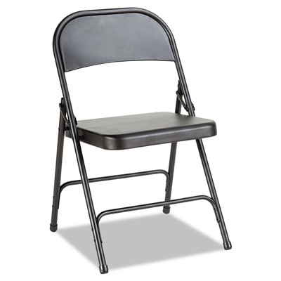 Steel Folding Chair with Two-Brace Suppo