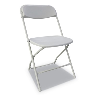 Economy Resin Folding Chair, White Seat/