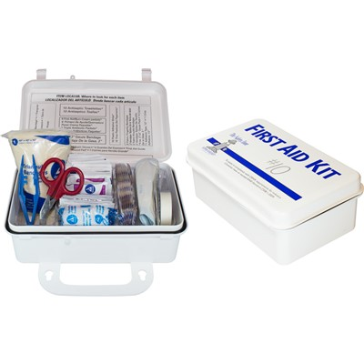 Plastic 10 Man First Aid Kit 1ea