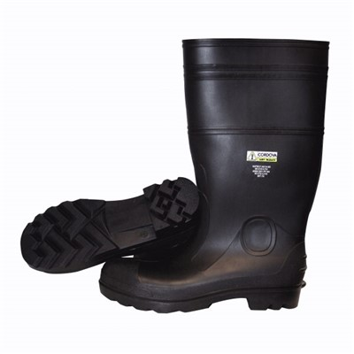 Heavy Duty Black PVC Boots, Steel Toe, S