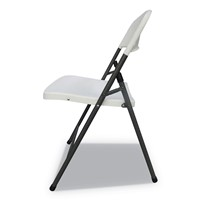 Molded Resin Folding Chair, White Seat/W