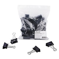 Binder Clips in Zip-Seal Bag, Medium, Bl